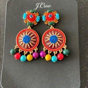 JCrew beaded colorful earrings (brand new)